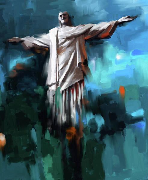Redeemer Wall Art - Painting - Christ The Redeemer 429.3 by Mawra Tahreem