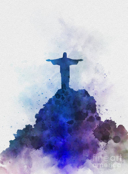 Statue Mixed Media - Christ The Redeemer by My Inspiration