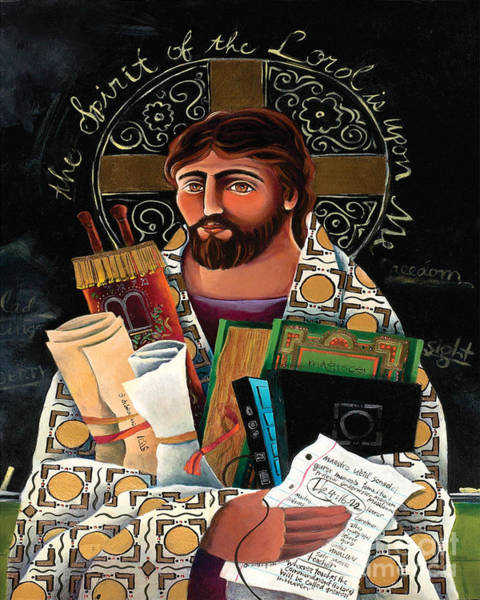 Painting - Christ The Teacher - Mmctt by Br Mickey McGrath OSFS
