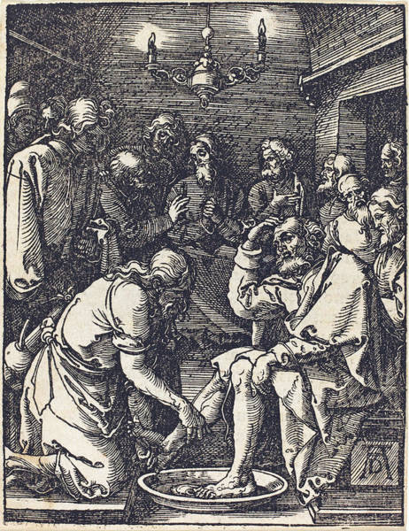 Drawing - Christ Washing The Feet Of The Disciples by Albrecht Durer