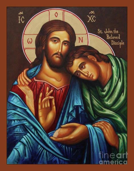 Wall Art - Painting - Christ With St. John  by Ann Chapin