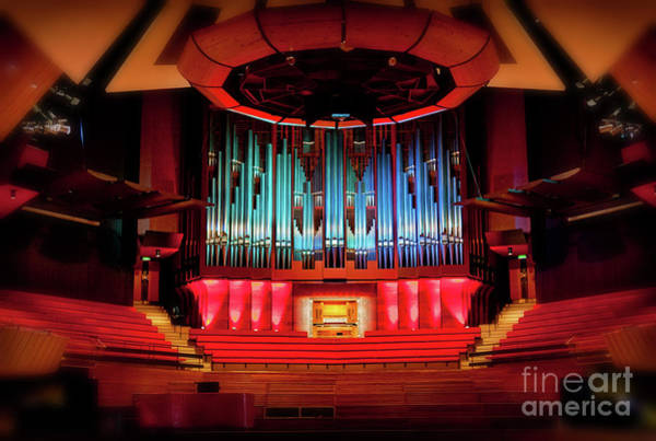 Photograph - Christchurch Town Hall Pipe Organ by Jenny Setchell