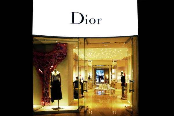 Photograph - Christian Dior Window Sign Las Vegas by Marilyn Hunt