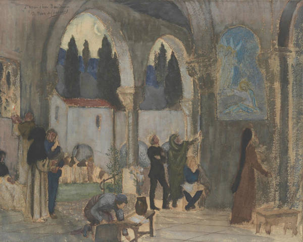 Painting - Christian Inspiration by Pierre Puvis de Chavannes