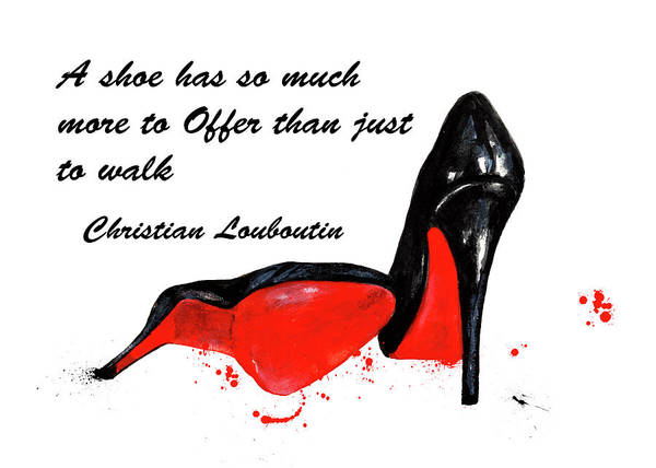Christian Louboutin Wall Art - Painting - Christian Louboutin Shoes 4 by Green Palace
