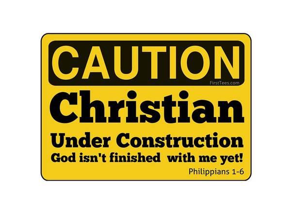 Easter Sunday Digital Art - Christian Under Construction  by Motivational Artwork