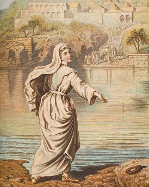 Wall Art - Drawing - Christiana Entering The River. From The by Vintage Design Pics