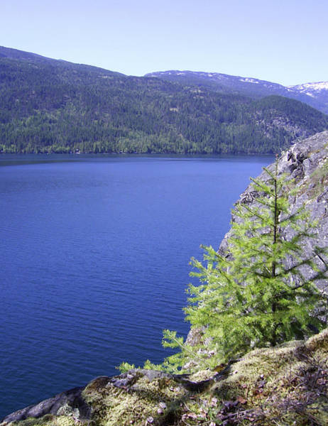 Photograph - Christina Lake Texas Point Lookout Grand Forks Bc  by Barbara St Jean