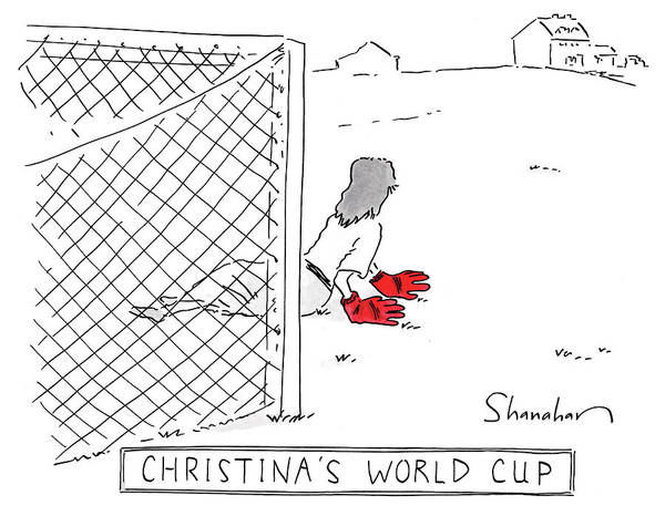 Goals Drawing - Christinas World Cup by Danny Shanahan