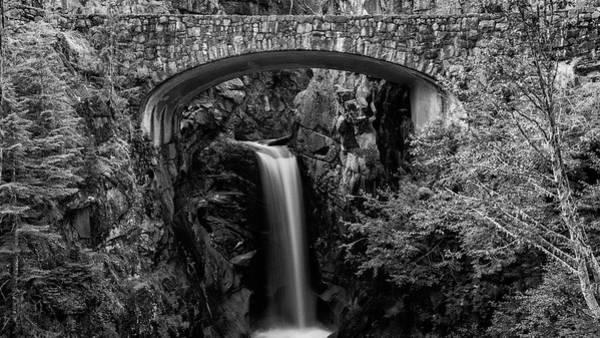 Christine Falls Photograph - Christine Falls - Black And White by Stephen Stookey