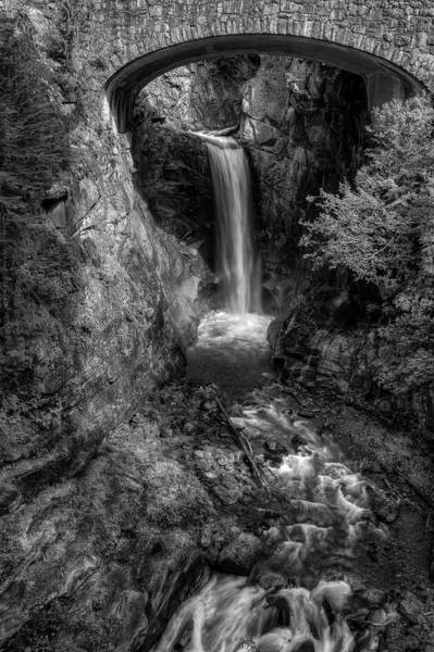 Photograph - Christine Falls In Black And White by Mark Kiver