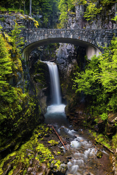 Mount Rainier Photograph - Christine Falls - Mount Rainer National Park by Stephen Stookey