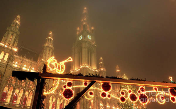 Photograph - Christkindlmarkt In Vienna by John Rizzuto