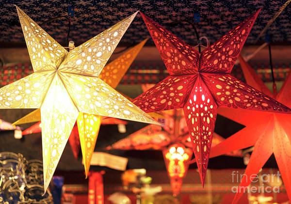 Photograph - Christkindlmarkt Stars Munich by John Rizzuto