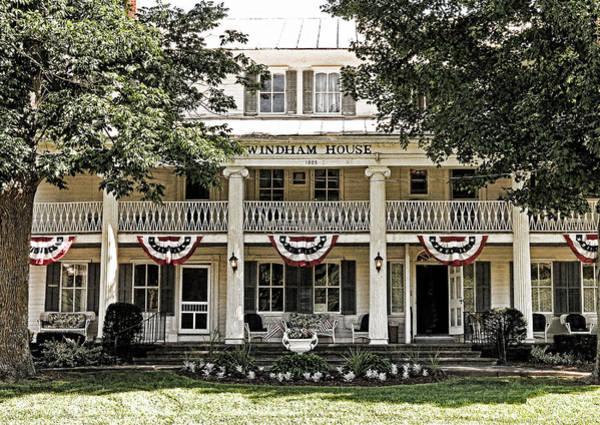 Photograph - Christmans Windham House by Nancy De Flon