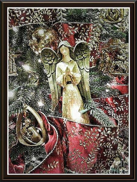 Christmas Angel Greeting Art Print