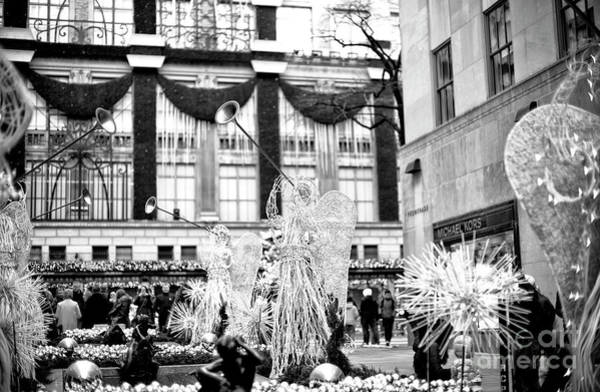Photograph - Christmas Angels At Rockefeller Center New York City by John Rizzuto