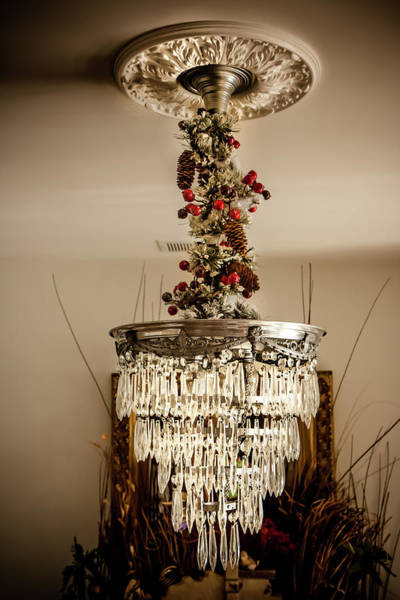 Photograph - Christmas Antique Chandelier by KG Thienemann
