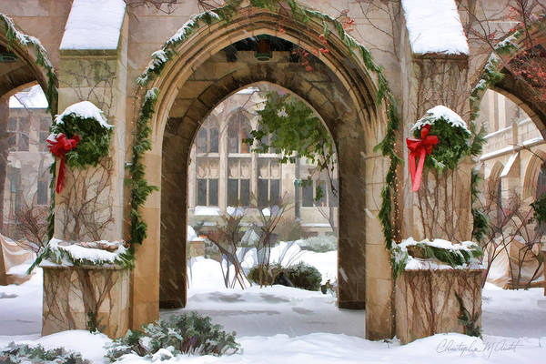 Painting - Christmas Arch by Christopher Arndt