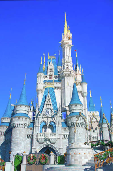 Wall Art - Photograph - Christmas At Cinderella Castle by Mark Andrew Thomas