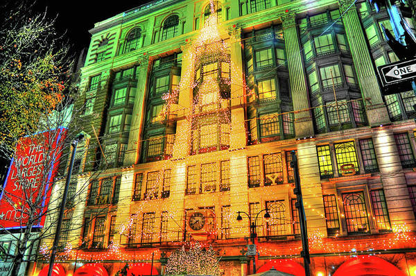 Wall Art - Photograph - Christmas At Macy's by Randy Aveille