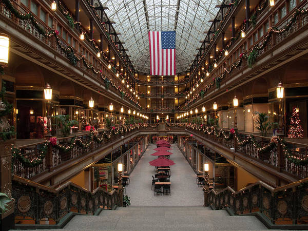 Photograph - Christmas At The Arcade  by Stewart Helberg