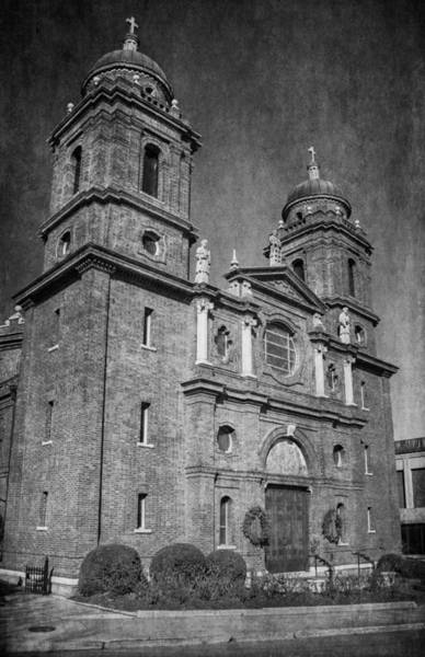 Photograph - Christmas At The Basilica Of Saint Lawrence - Bw by Joye Ardyn Durham