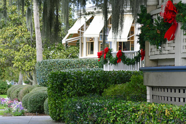 Photograph - Christmas At The Jekyll Island Club Hotel by Bruce Gourley