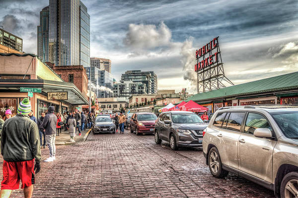 Wall Art - Photograph - Christmas At The Pike Place Market by Spencer McDonald
