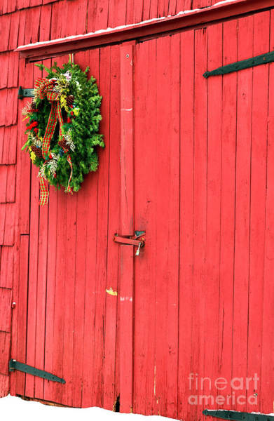 Photograph - Christmas Barn At East Jersey Olde Towne Village In New Jersey by John Rizzuto