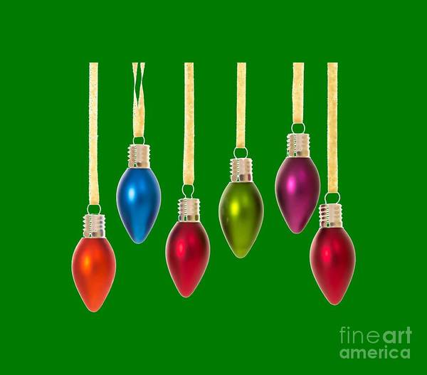 Xmas Digital Art - Christmas Baubles Tee by Edward Fielding