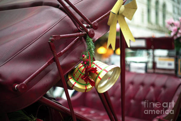 Photograph - Christmas Bell On The Hansom Cab New York City by John Rizzuto