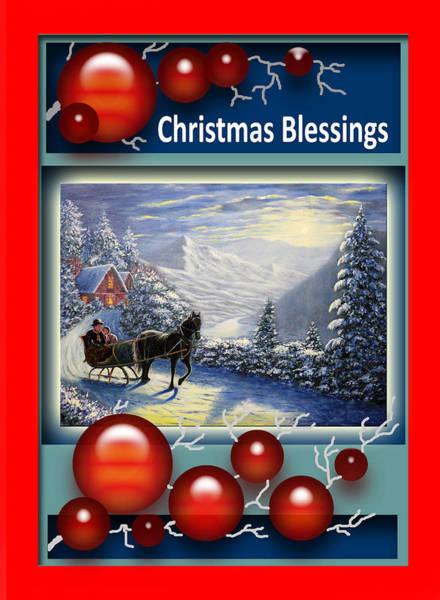 Wall Art - Painting - Christmas Blessings by Saeed Hojjati