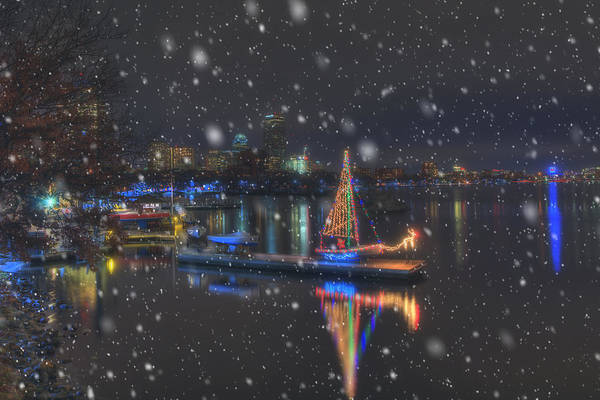 Wall Art - Photograph - Christmas Boat On The Charles River - Boston by Joann Vitali