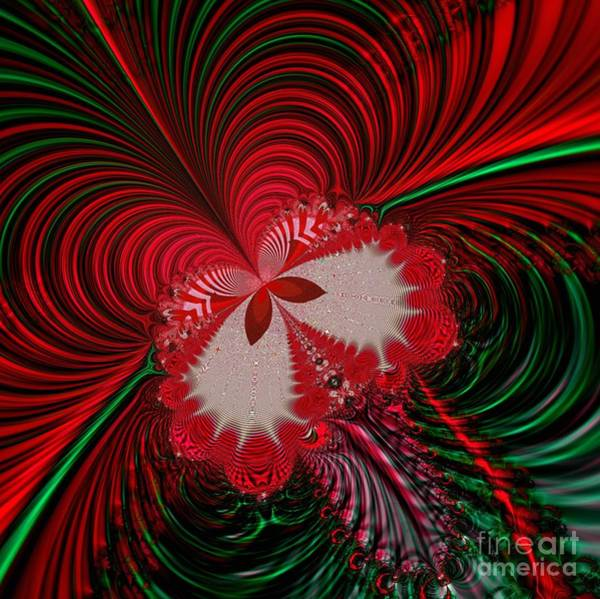 Digital Art - Christmas Butterfly Fractal 63 by Rose Santuci-Sofranko