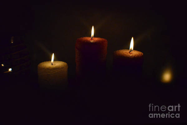 Photograph - Christmas Candles In The Night Number 4 by Christopher Shellhammer