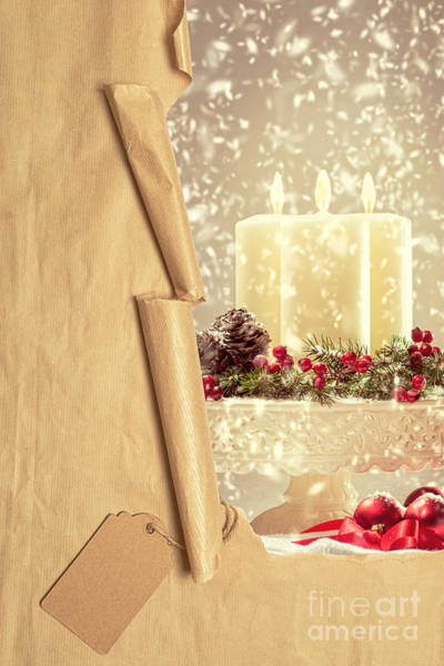 Tag Photograph - Christmas Candles by Amanda Elwell