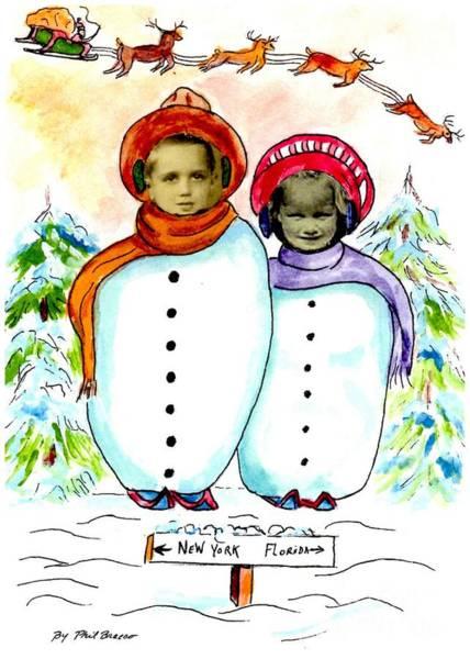 Drawing - Happy Holidays by Philip Bracco