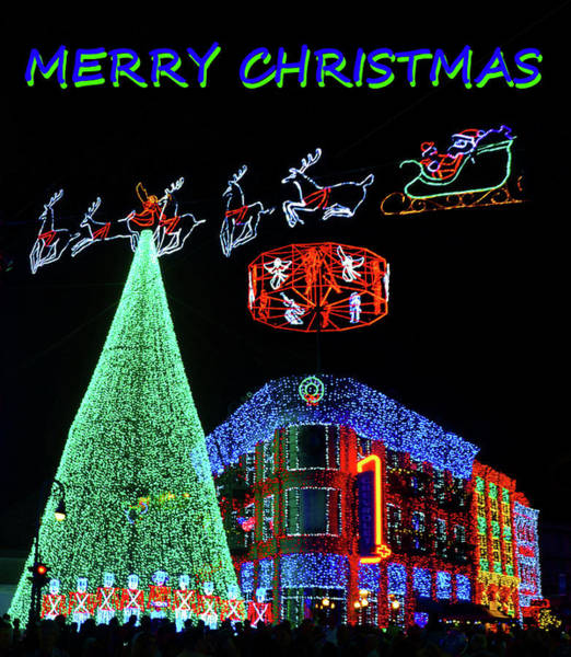 Disney World Digital Art - Christmas Card Disney Style by David Lee Thompson