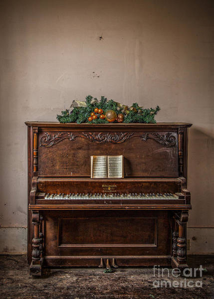 Photograph - Christmas Card With Piano In Old Church by T Lowry Wilson