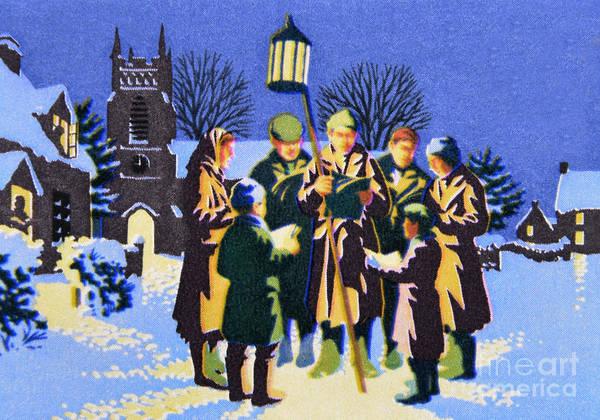 Carol Singing Photograph - Christmas Carol Singing. by Stan Pritchard