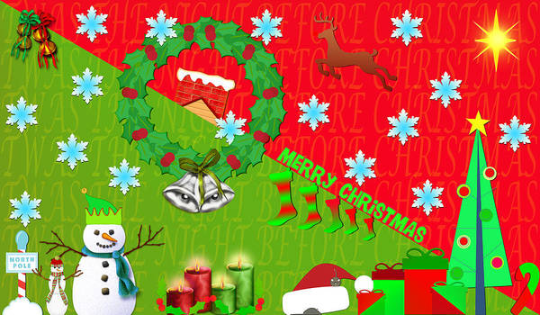 Christmas Season Wall Art - Digital Art - Christmas Collage 3 by Steve Ohlsen