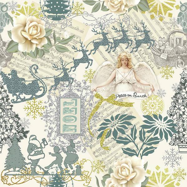 Holly Digital Art - Christmas Glitter-b by Jean Plout