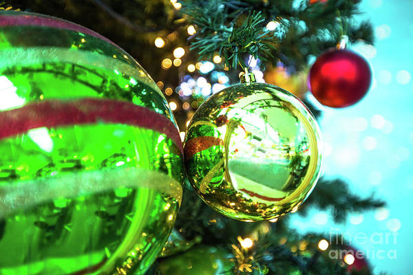Photograph - Christmas Coloful Balls by Benny Marty