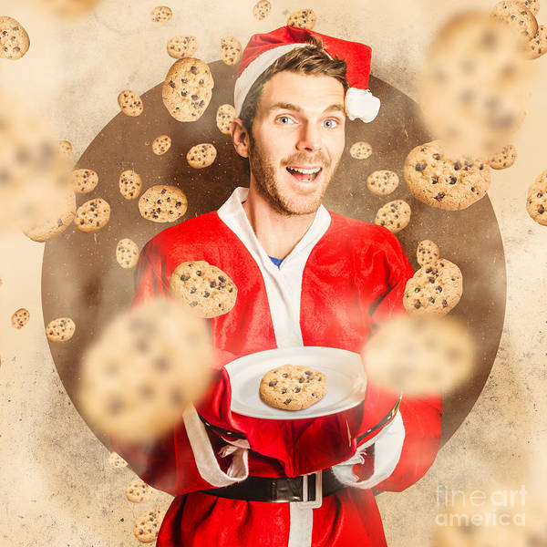 Wall Art - Photograph - Christmas Cooking Elf With Cookies Treats by Jorgo Photography - Wall Art Gallery