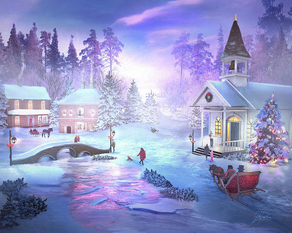 Christmas Creek Art Print