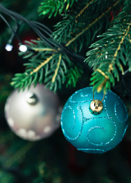Bauble Wall Art - Photograph - Christmas Decorations by Tom Gowanlock