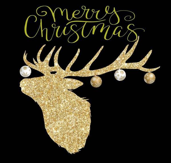 Digital Art - Christmas Deer by Ericamaxine Price