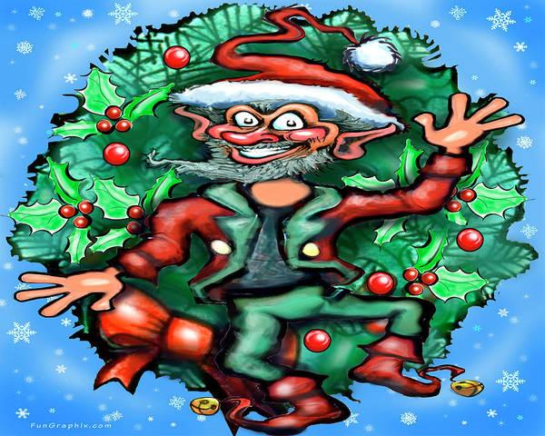 Digital Art - Christmas Elf by Kevin Middleton