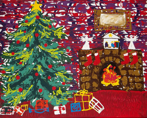 Painting - Christmas Eve by Anne Cameron Cutri